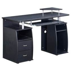 computer desk at target complete computer workstation desk with storage techni