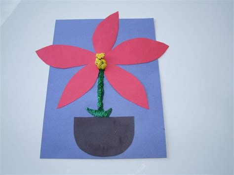 poinsettia craft for song and and easy make a poinsettia craft for