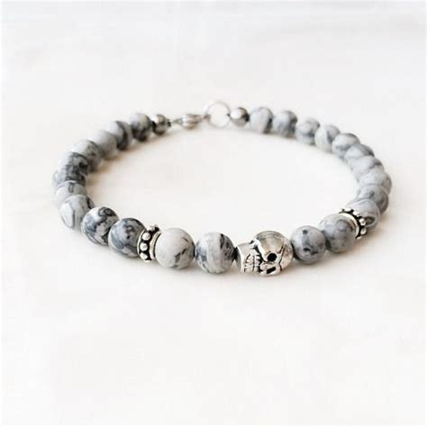 mens beaded bracelet patterns 1000 ideas about mens skull jewelry on 316l