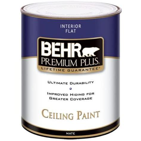 home depot paint quart behr premium plus 1 qt flat interior ceiling paint 55804