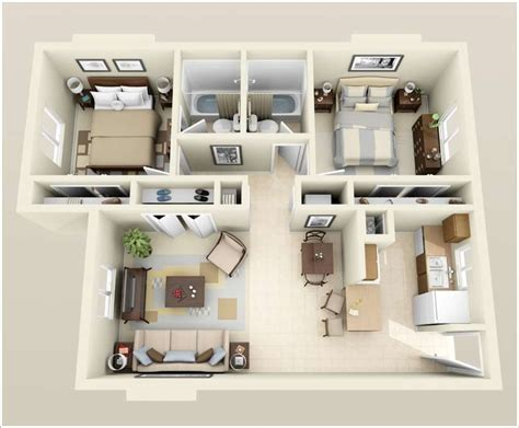 two bedroom apartment design 10 awesome two bedroom apartment 3d floor plans