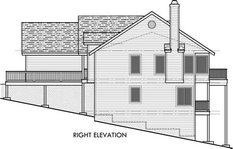 house plans with rear view rear view house plan w daylight basement