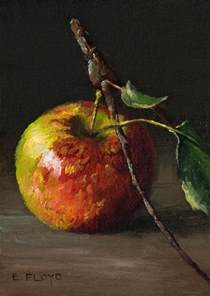 acrylic painting fruit on canvas apples and on