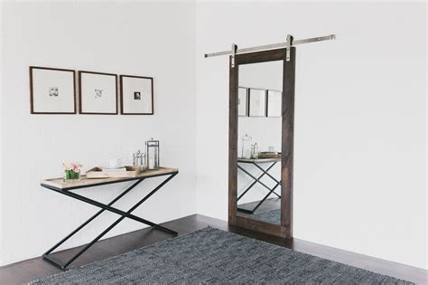 mirrored barn door modern mirrored barn door barndoorhardware