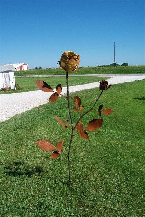 tin yard tin yard stake 74 quot metal garden flower