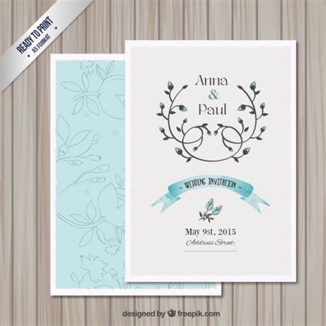 card downloads free templates wedding invitation card template vector free