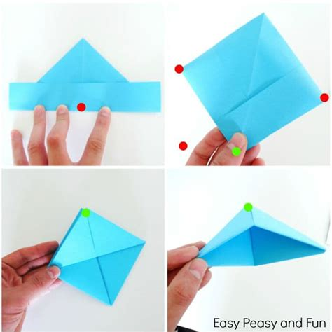 simple origami shapes how to make a paper boat origami for easy peasy