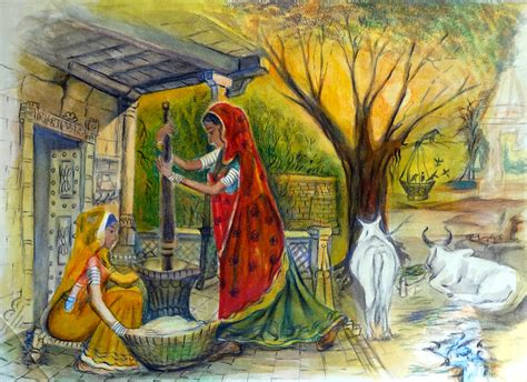indian painting pictures indian 13 painting by bhanu dudhat