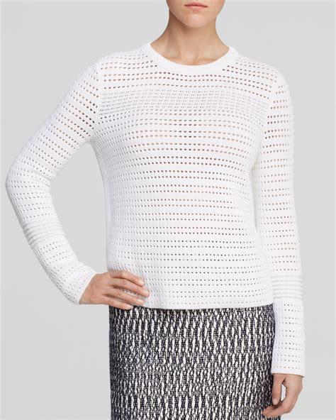 open knit sweater burch open knit sweater in white lyst