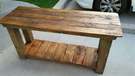 sofa table made from pallets pallet console table end table sofa table 99 pallets