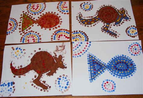 aboriginal crafts for ten and a sunday lessons aboriginal dot