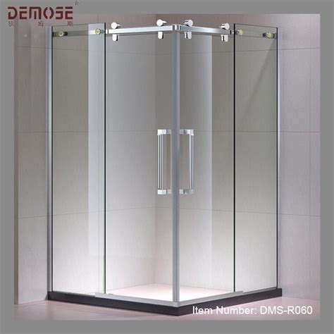 standard glass shower door standard sliding glass door size shower frameless sliding