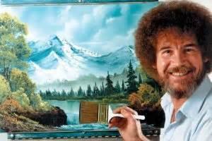 bob ross painting channel mind bending 3d by nz artist harkins
