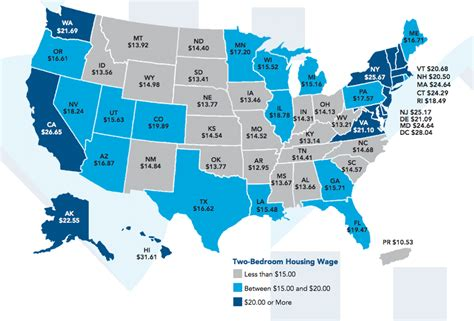 cheapest states to rent in the us a new study maps how much income you need to rent a 2