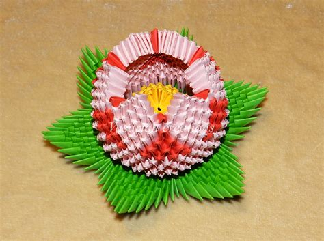 3d origami lotus flower tutorial origami 3d lotus by ombryb on deviantart