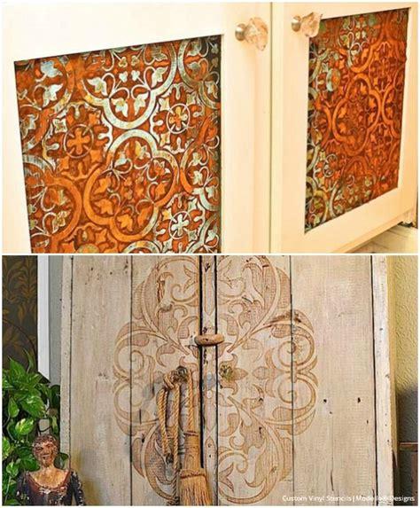 ideas painting kitchen cabinet doors 20 diy cabinet door makeovers with furniture stencils
