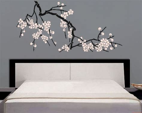 stencil japanese cherry blossoms large branch stencil for walls diy home decor japanese