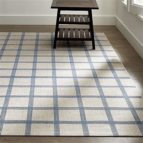 crate and barrel indoor outdoor rugs koen grid sky blue outdoor rug crate and barrel