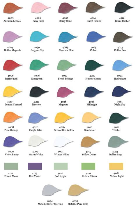 folk acrylic paint colors shamrock