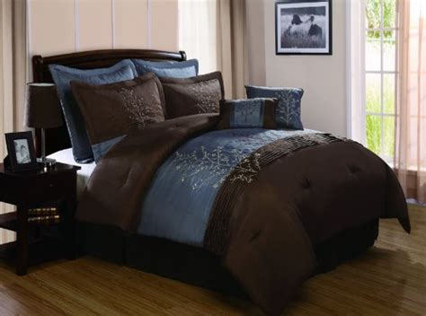 chocolate brown comforter set chocolate brown and blue bedding sets