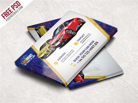 Car Photoshop Program by Car Dealer Business Card Template Free Psd Psd