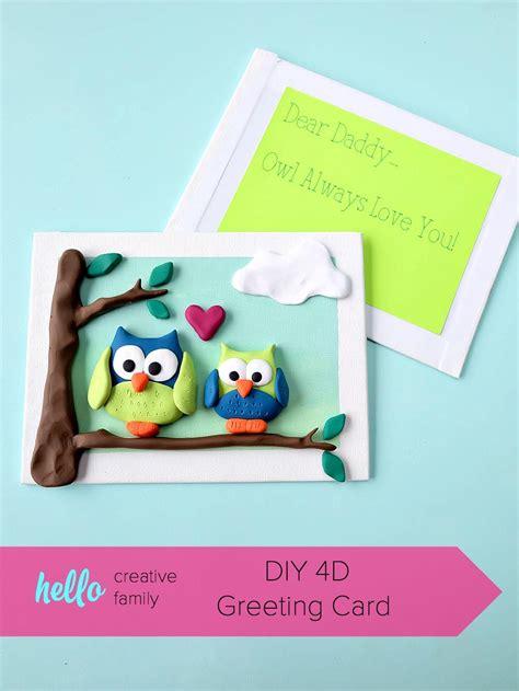 craft greeting card diy 4d greeting card hello creative family
