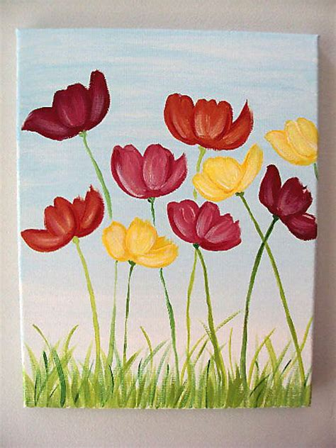 make flower painting 25 best ideas about flower painting canvas on