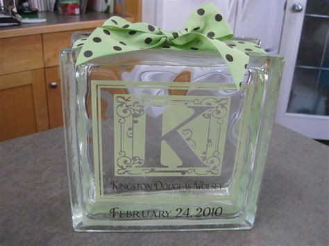 glass blocks craft projects heartfelt signs and crafts monogram ideas
