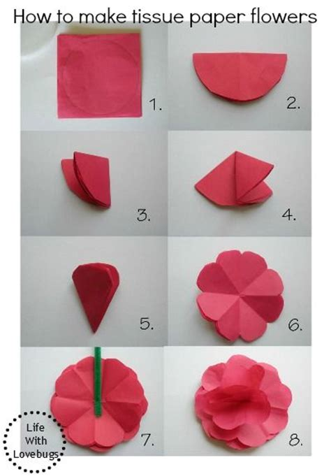 how to make a craft paper flower 25 best ideas about tissue paper flowers on