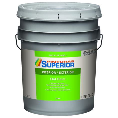 home depot 5 gallon interior paint superior 5 gal white flat bone interior exterior paint sup14010 05 the home depot