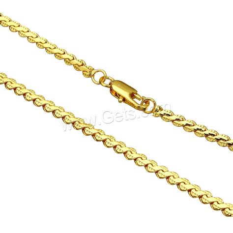 brass chain for jewelry brass chain necklace gold color plated serpentine chain