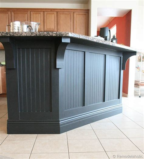 kitchen island makeover kitchen island makeover with corbels part two construction home business directory