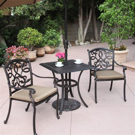 bistro set patio furniture darlee santa 3 bistro set atg stores