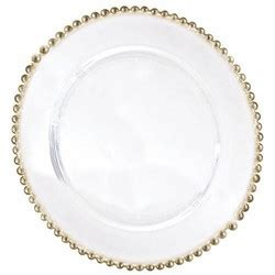 gold beaded chargers belmont gold beaded clear glass charger plate