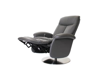 swivel and recliner chairs imola swivel recliner chair in iron grey cow hide