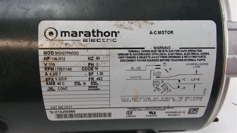 Marathon Ac Motor by Marathon Electric A C Motor 5kh37pn33g Lotastock