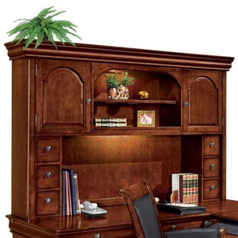 desk with return and hutch executive l desk with right return and hutch
