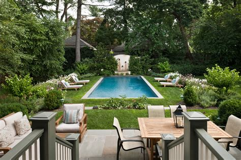 Thomasville Dining Room small backyard pools pool traditional with bluestone patio