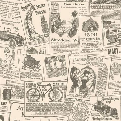 decoupage with newspaper clippings vintage newspaper wallpapers 43