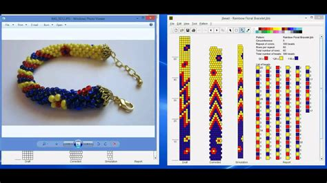 bead loom software design tubular bead crochet jewelry patterns with jbead