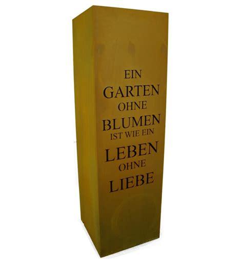 Garten Der Liebe Gedicht by S 228 Ule Gedicht Rost S 228 Ule Ein Garten Ohne Blumen Edelrost Stele