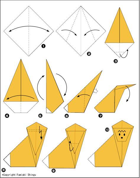 origami monkey diagram origami monkey scheme of paper in the