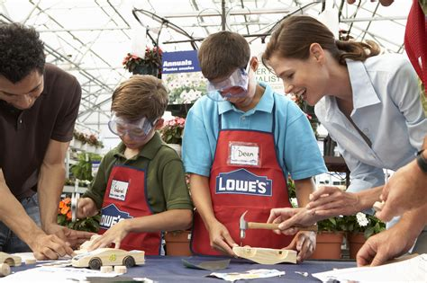 lowes kid craft free workshops and clinics at lowes and home depot
