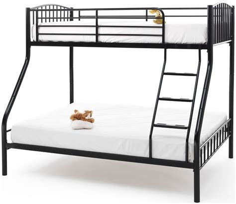 three sleeper bunk beds buy serene oslo black metal three sleeper bunk bed