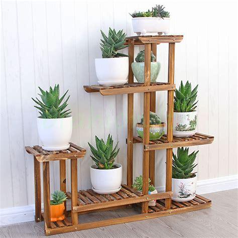 garden flower stands wooden plant flower herb display stand shelf storage rack