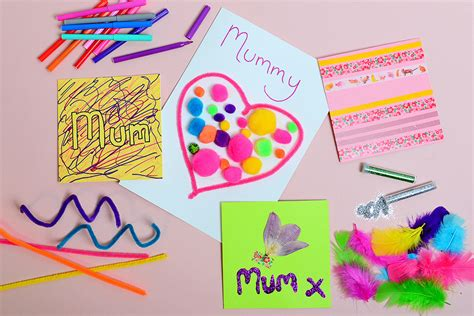 mothers day cards for toddlers to make four easy s day cards for hobbycraft