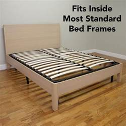 size wood bed frame europa size wood slat and metal platform bed frame