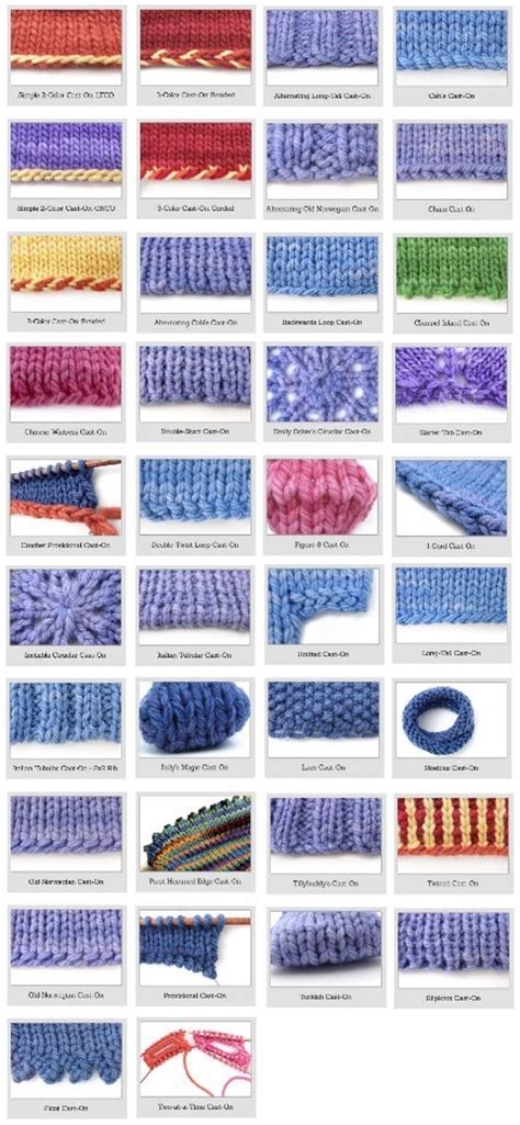 guide to knitting stitches knitting for beginners 38 different and awesome cast on