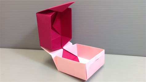origami folding box how to fold and combine two origami boxes to make a box