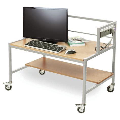 computer desk trolley single tier computer trolley desk